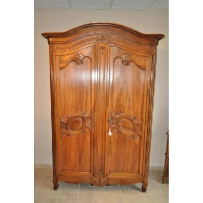 armoire ancienne 2 portes avec miroir