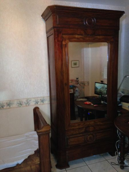 armoire ancienne acajou