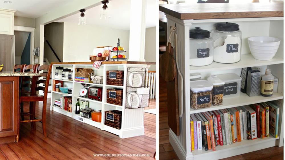 armoire ancienne transformee en bibliotheque