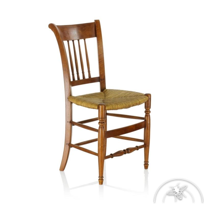chaise ancienne bois paille