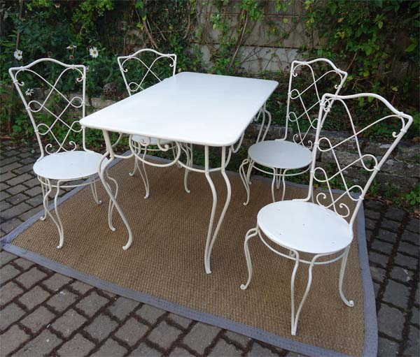 chaise ancienne fer forge