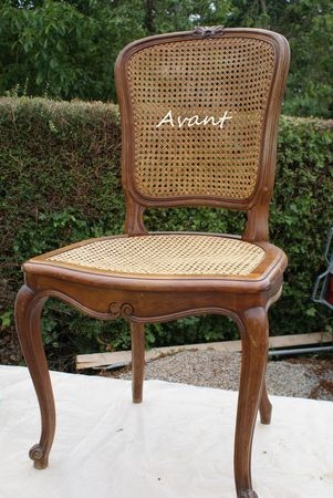 chaise ancienne patine