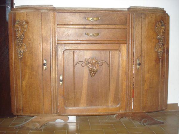 meuble ancien avec plaque marbre