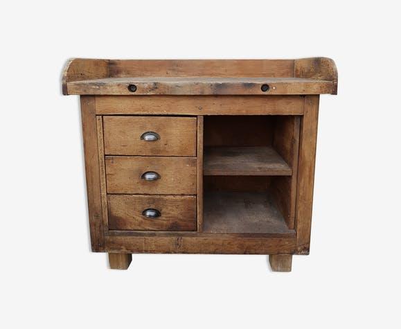 meuble ancien bois brut