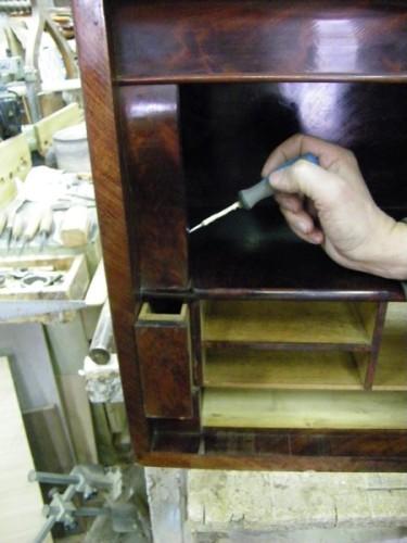meuble ancien secretaire avec tiroir secret