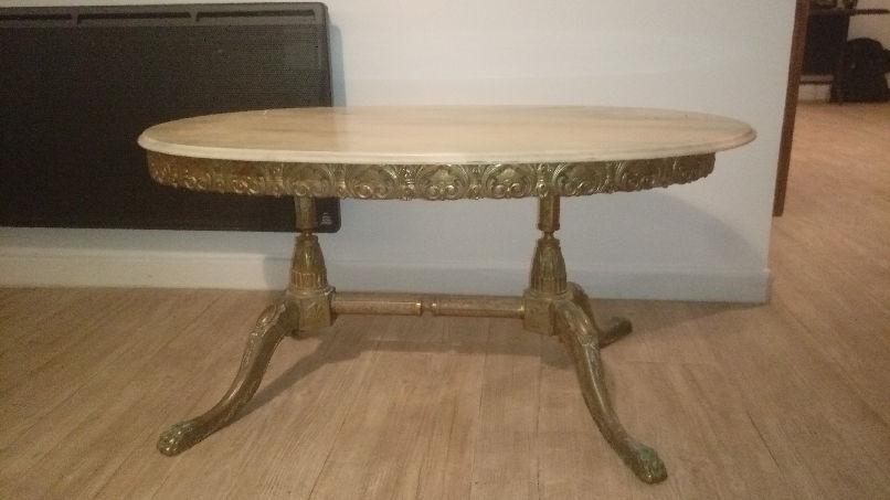 table ancienne plateau marbre